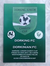 More details for 2016/17 dorking v dorkinian - dorking fc last ever match - ultra rare