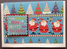 1 Hand made Xmas Card. May Your Day Be Merry & Bright. Post $2 for 1 to 6 cards