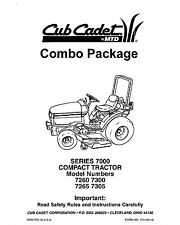 Cub Cadet 7260-7265-7300-7305 Lawn Tractor Manuals Combo Package