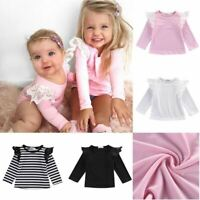 Newborn Infant Baby Girls Toddler Kids Clothes Long Sleeve T-shirts Tops Outfit