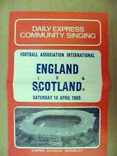 1969 International- England v Scotland SINGING Sheet,10 May Daily Express