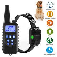 300m Dog Shock Collar With Remote Waterproof Electric Pet Training Waterproof