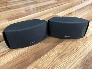 Pair Bose Gemstone Speakers AV321 3-2-1 GS/GSX Cinemate Series 1 II III Graphite