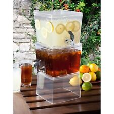 Stackable Beverage Drink Dispenser 3 Gallon Cooler Water Cocktail Outdoor Party