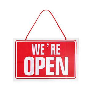 Hanging Red We're Open / Closed Shop Restaurant Opening Door Sign (BS3)