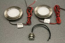 2 x Campervan 12v Recessed Spot Lights with Touch Dimmer/Switch, Motorhome