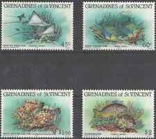 Timbres Poissons Grenadines St Vincent 311/4 ** lot 22878