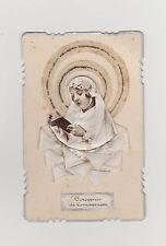 CARTE SOUVENIR DE COMMUNION/PORTRAIT D'une JEUNE COMMUNIANTE-RELIEF-RUBANS SATIN