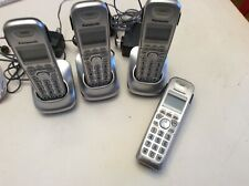4 Panasonic KX-TGA402 Replacement Telephones HANDSET & 3 PNLC1010 Charging Bases