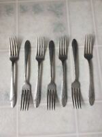 Oneida Community Queen Bess Tudor Silver plate Flatware set of 7 Dinner Forks