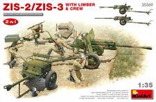Mini Art 35369 Model kit 1/35 Soviet ZIS-2/ZIS-3 With LIMBER & CREW. 2 IN 1