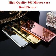 Hybrid 360° Shockproof Mirror Case Tempered Glass Cover For Apple iPhone 6/6s/7