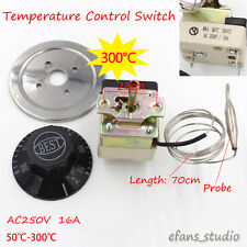 Temperature Control Switch AC250V 16A 50-300C Dial Thermostat  for Electric Oven