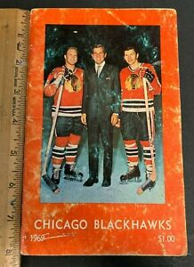 1969 NHL HOCKEY CHICAGO BLACKHAWKS TEAM OFFICIAL PROGRAM