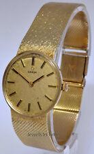 Omega Vintage 14k Yellow Gold Ladies Bracelet Watch Windup 29mm DD6814