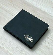 Personalised Logo Gift Leather Men wallet Custom Black Bi fold Wallet Purse