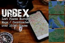 URBEX Lost Places Europe & UK over 10.000 Maps / Coordinates for Earth & Apps