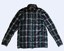 Icebreaker Merino Blue Plaid Long Sleeve Wool Shirt sz M