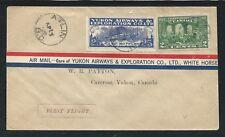 CANADA 1928 YUKON AIRWAYS cover - CL42 - ATLIN BC to CARCROSS YUKON