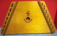 """Nepenenoyka Wood Dulcimer Lap Harp Musical Instrument 14 3/4"""" x 8"""" All Strings"""