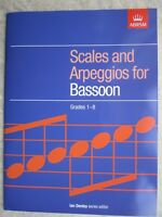 Scales and Arpeggios for Bassoon Grades 1-8 *NEW* Publisher ABRSM