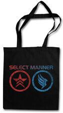 SELECT MANNER SHOPPER SHOPPING BAG Jack Commander Mass Normandy Sheppard Effect
