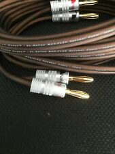 SPEAKER CABLE 12 Gauge CCA by Sound Quest, Nakamichi banana plugs,10ft long