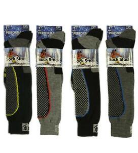 4 Pairs Of Mens Performance Ski Sock Long Thermal Winter Snowboard Socks