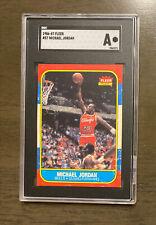 1986 FLEER #57 MICHAEL JORDAN ROOKIE! Graded SGC A, AUTHENTIC, Pop Of 187, Rare!
