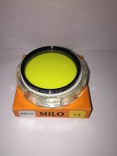 55mm Yellow Y2 Filter By Milo Made In Japan!