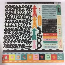 3 Sheet Kit Pink Paislee Hey Kid Element Stickers Label Letters Alphabet Pad Art