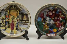 2 Christmas Plates Royal Doulton and Bing & Grondahl with Boxes & papers Nice!