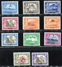 Aden 1951 Daily Stamps Surcharged to 10 shillings Mint VF/XF Complete SG#36-46