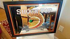 Framed Shock Top Mirror Beer Sign