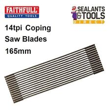 Faithfull Quality Coping Saw Blades High Quality Wood 14tpi FAICSB 165mm 10 Pack