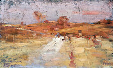 A Colour Impression of Templestowe by Arthur Streeton A1 High Quality Art Print