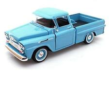1/24 MOTORMAX 1958 Chevrolet Apache Fleetside Pickup Diecast Light Blue 79311