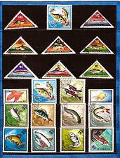 MONGOLIE  Les poissons  de mer, eau douce, aquarium 28M279B