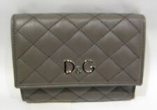 REDUCED PRICE!! D&G DARK GREY QUILTED LEATHER PURSE