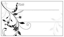 25 Wedding PARTY Shower TABLE PLACE CARDS