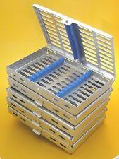 Set De 5 Quirúrgica Dental esterilización Cassette Rack Para 10 instrumento CE Nueva