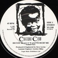 """CULTURE CLUB do you really want to hurt me  dub version 7"""" WS EX/ VS 518"""