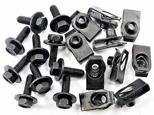 Mopar Body Bolts & U-nut Clips- M6-1.0 x 20mm Long- 10mm Hex- 20 pcs (10ea) #150