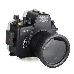 Meikon 40m/130ft Waterproof Underwater Camera Housing Diving Case for Nikon D750