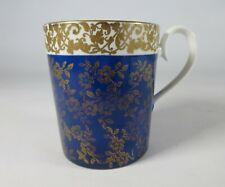 More details for vintage miniature royal albert mug blue and gold pattern