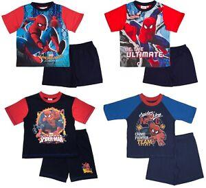 Girls Boys Pyjamas Spiderman Short Pjs Summer Pyjama Set Superhero Kids Size