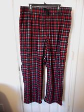 Men's Fruit Of The Loom Fleece Sleep Lounge Pants XL 40-42 Red Plaid NEW