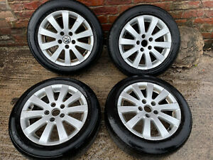 2010 VW TOURAN SET OF 16 INCH ALLOY WHEELS WITH TYRES 205/55R16 5 STUD