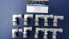 """Hydraulic Fittings (10) 3/8"""" JIC (9/16""""-18 thrd) x 3/8"""" ORB (9/16""""-18 thrd) 90"""