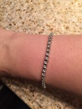 Diamond Bracelet 14kt W Gold 2carat G-H Gorgeous Everyday Sparkle Beautiful
